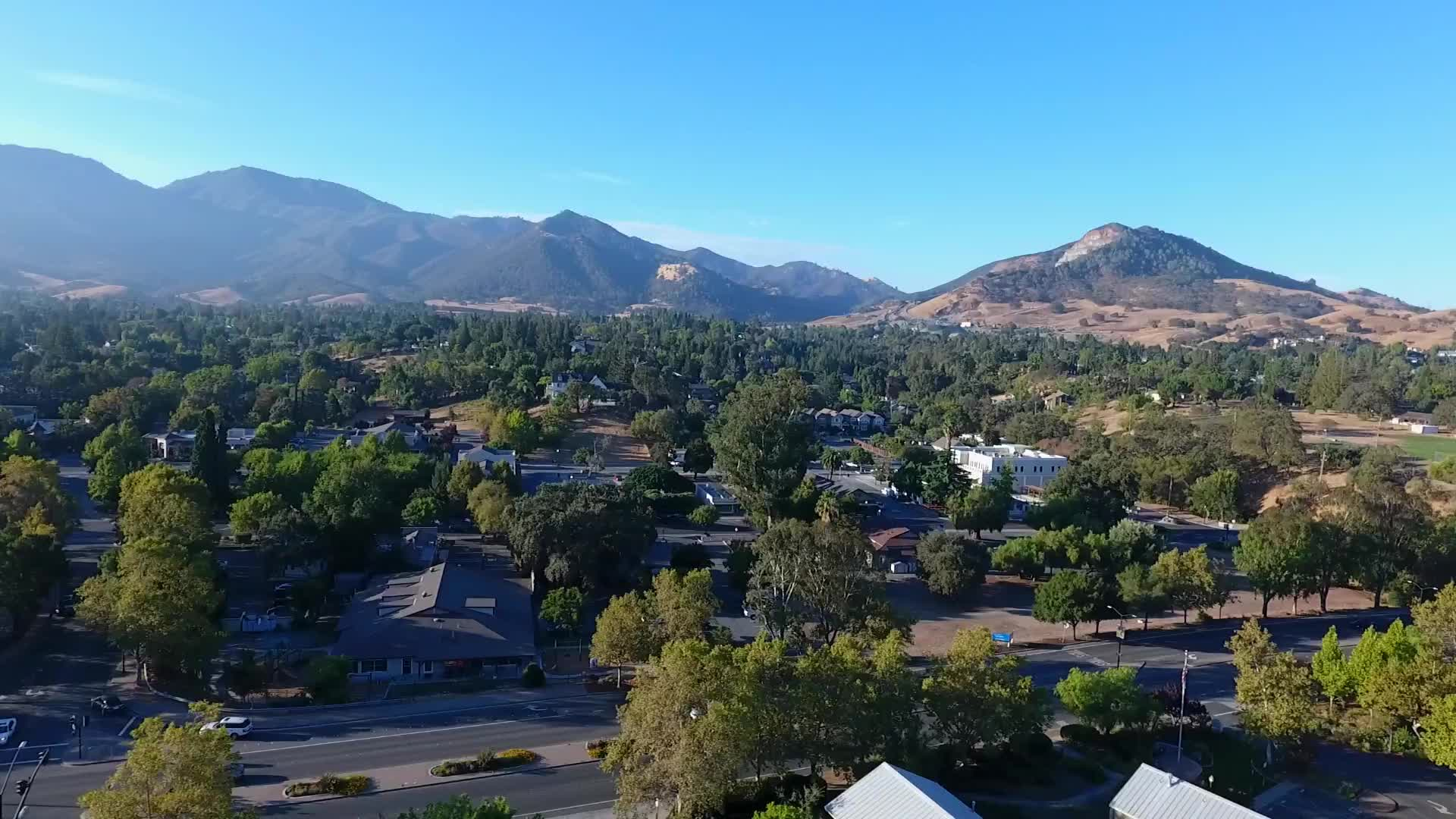 Aerial view of Mt Diablo